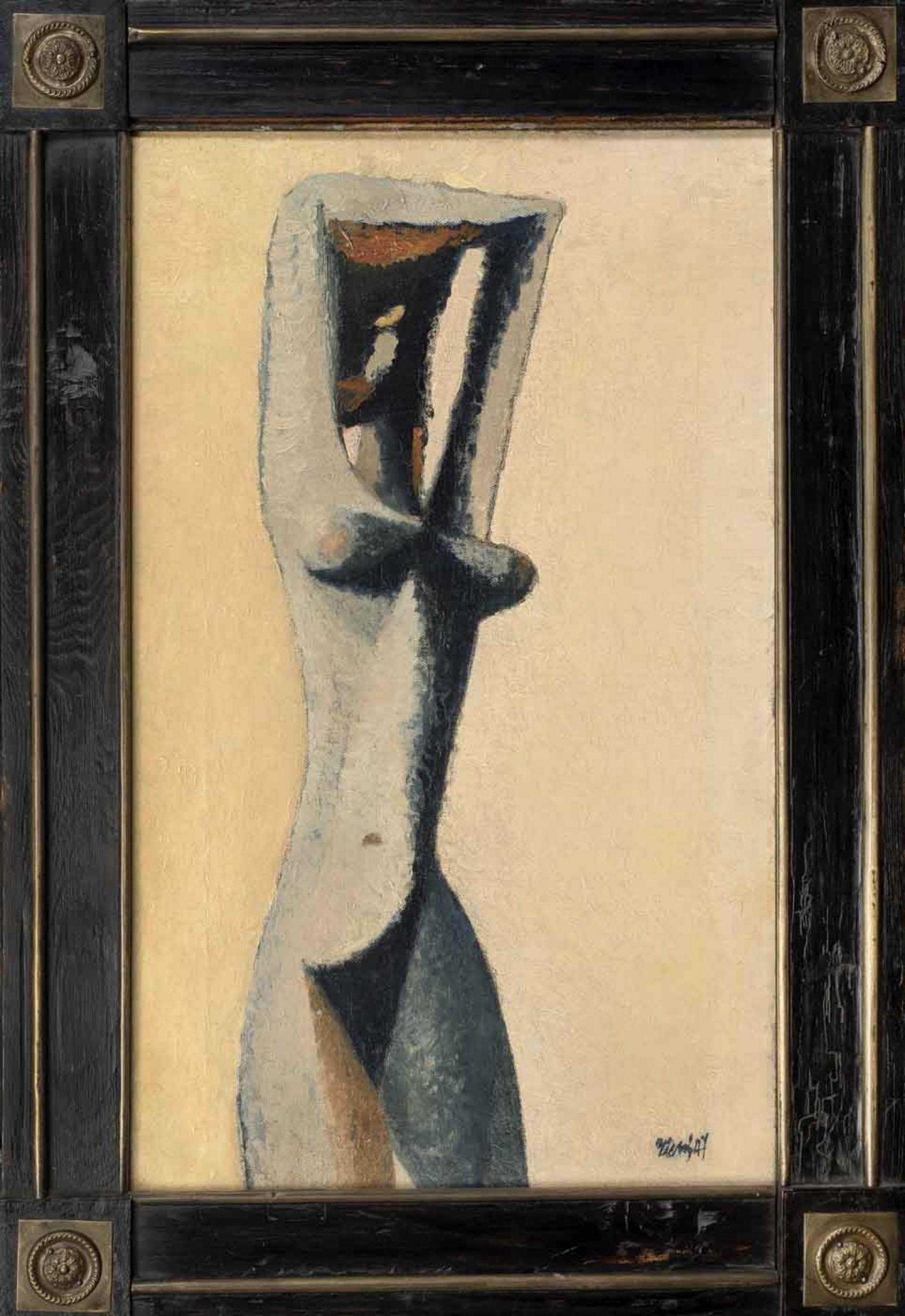 František Tichý: Bílá černoška, 1947, olej na plátně, 59 x 37 cm, cena: 2 520 000 Kč, Galerie Kodl, 1. 12. 2019
