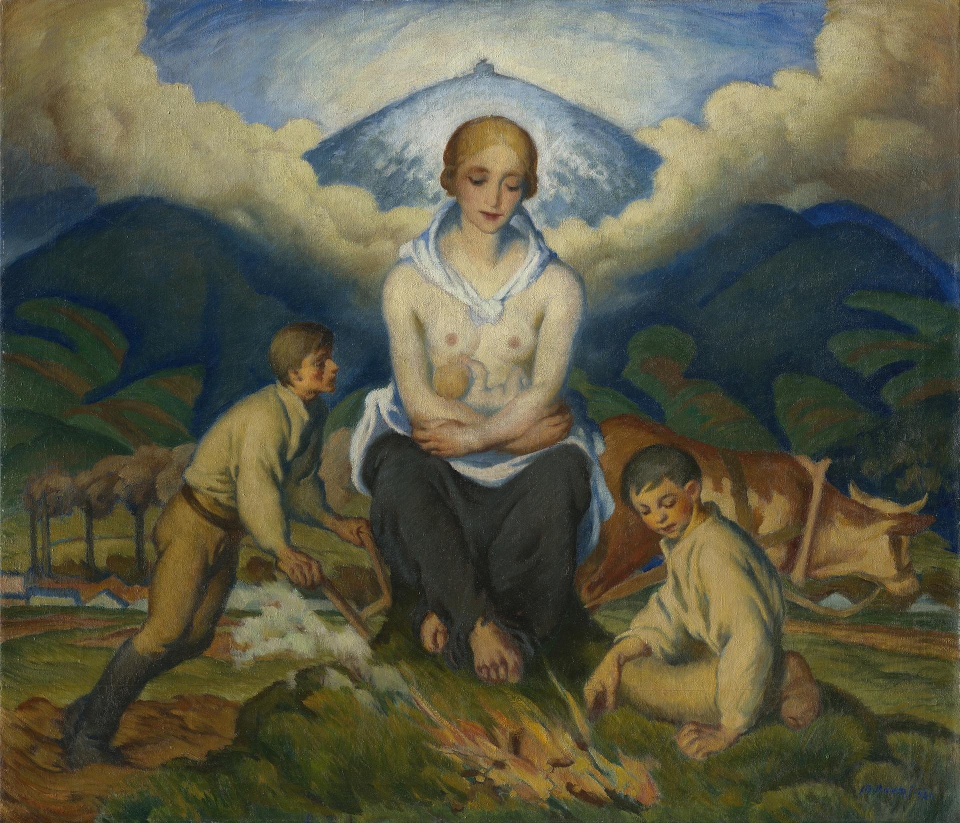 Bretislav-Bartos-Valasska-Madona-1921-GVUO.JPG