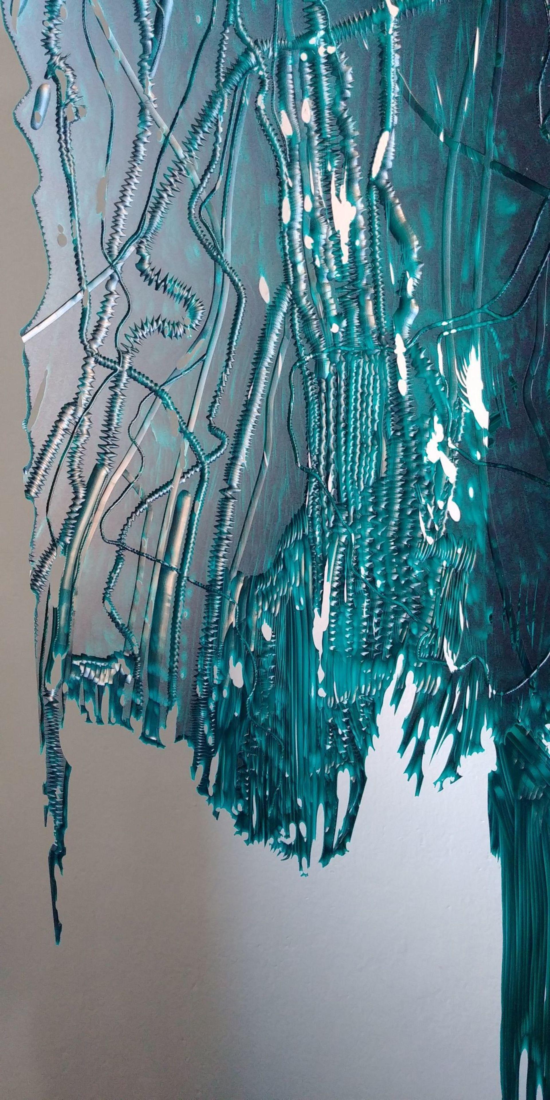 Připravovaný objekt pro Altán Klamovka, 2020, Detail 01, PVC pásy + rytina.jpg