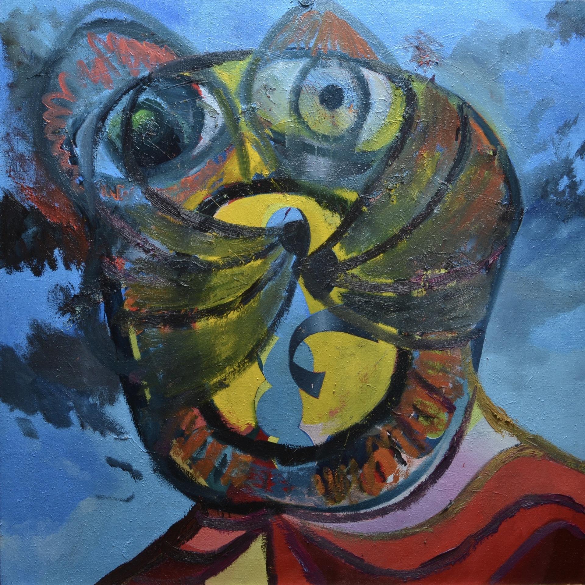 Autoportrét, 2019, olej na plátně, 150 x 150 cm.jpg
