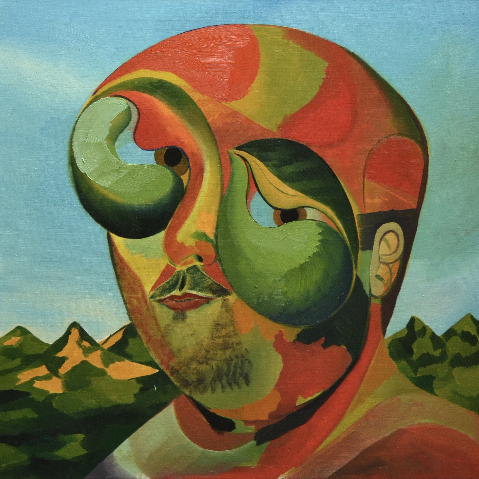 Autoportrét, 2019, olej na plátně, 80x80cm.jpg