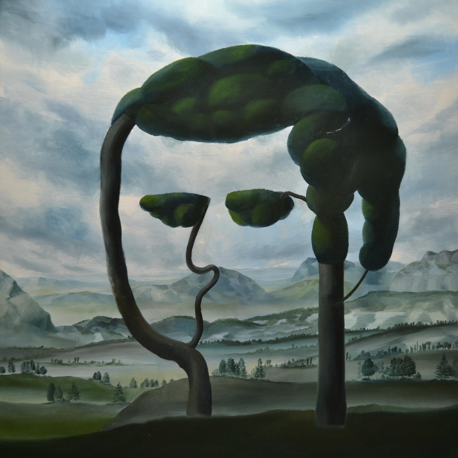 Portrét v krajině, 2020, olej na plátně, 150x150cm.jpg