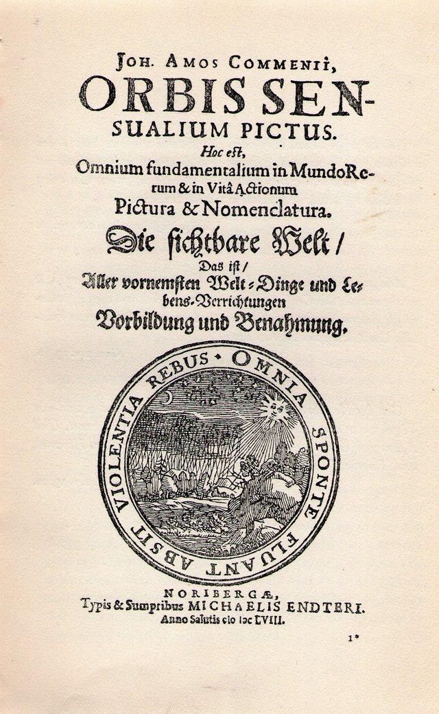 3. JAK, Orbis pictus, titulní list.jpg