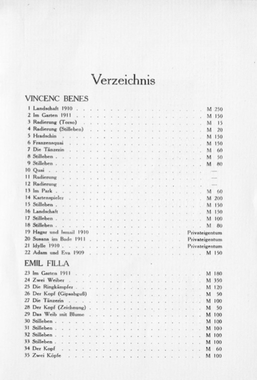 Katalog výstavy Skupiny v galerii Der Sturm v Berlíně, říjen 1913, XVIII. výstava