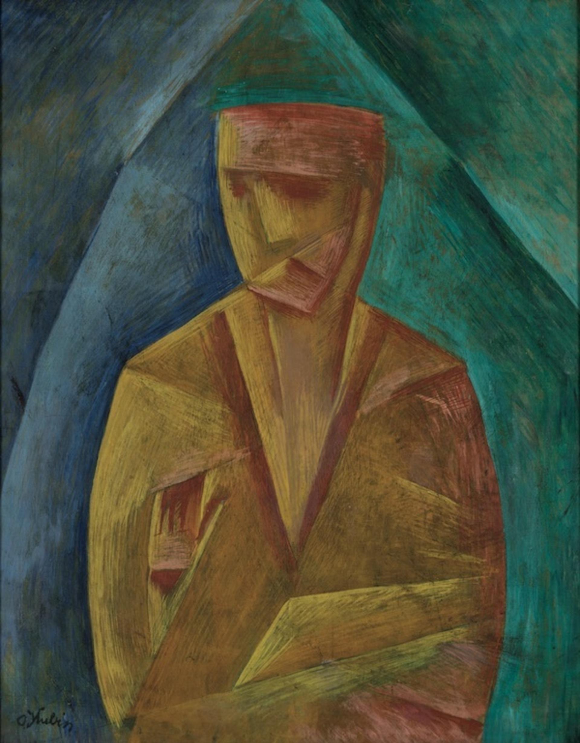 Otakar Kubín: Prorok, 1913, olej na plátně, 88 x 69 cm, vyvolávací cena: 5 500 000 Kč (+ složená 20% a 18% provize), 1. Art Consulting 25. 10. 2020