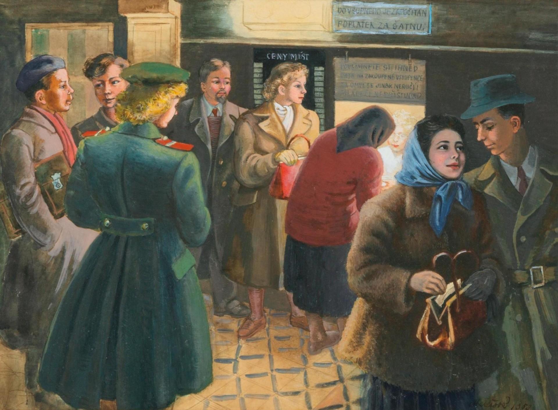 Milada Marešová: Pokladna kina, 1952