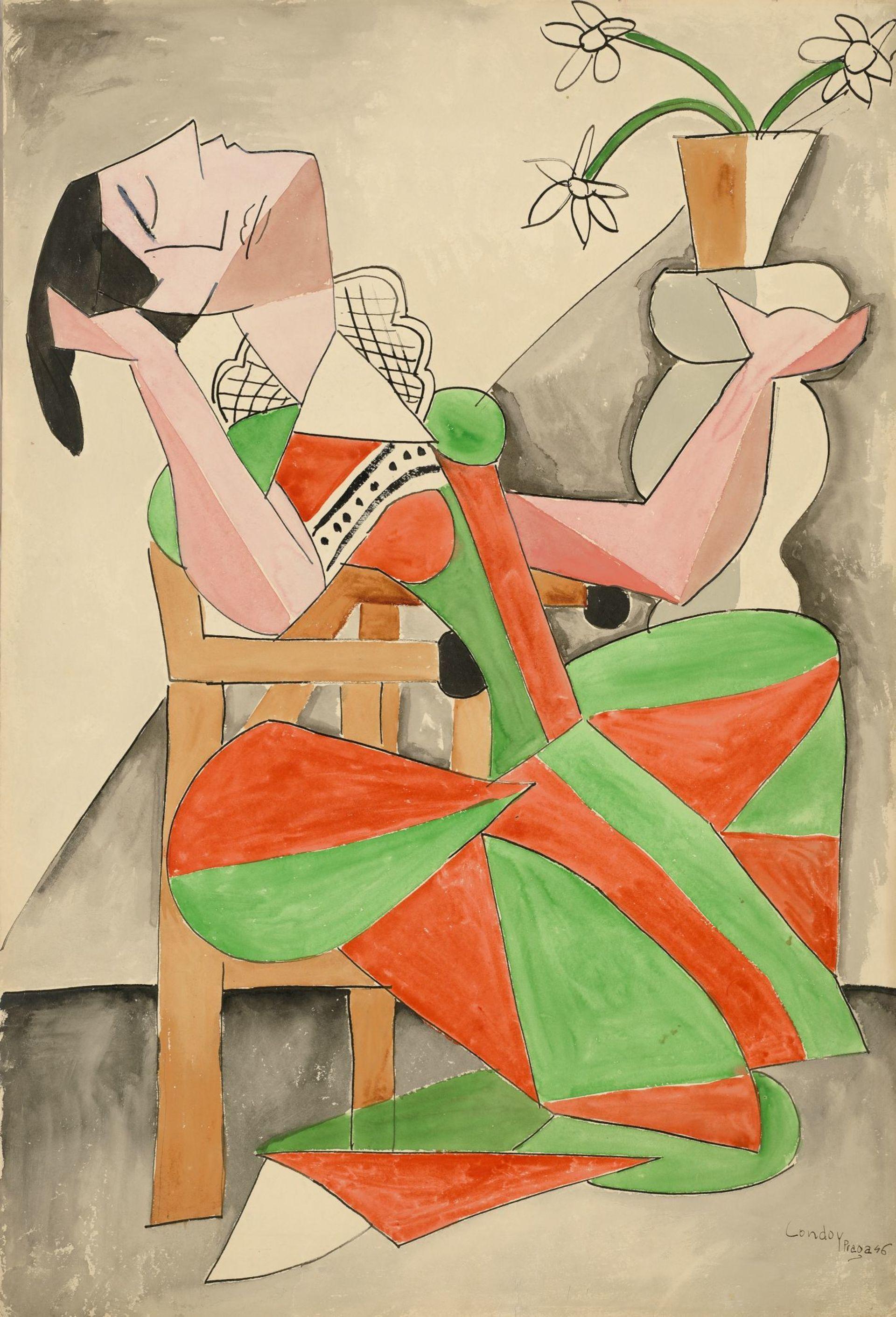 Honorio-Garcia-Condoy-Zena-v-kresle-tus-akvarel-papir-GVUOa.jpg
